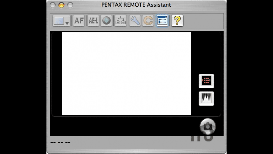 Pentax Remote Assistant for Mac - review, screenshots