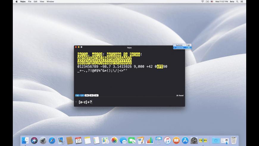 Rejex for Mac - review, screenshots