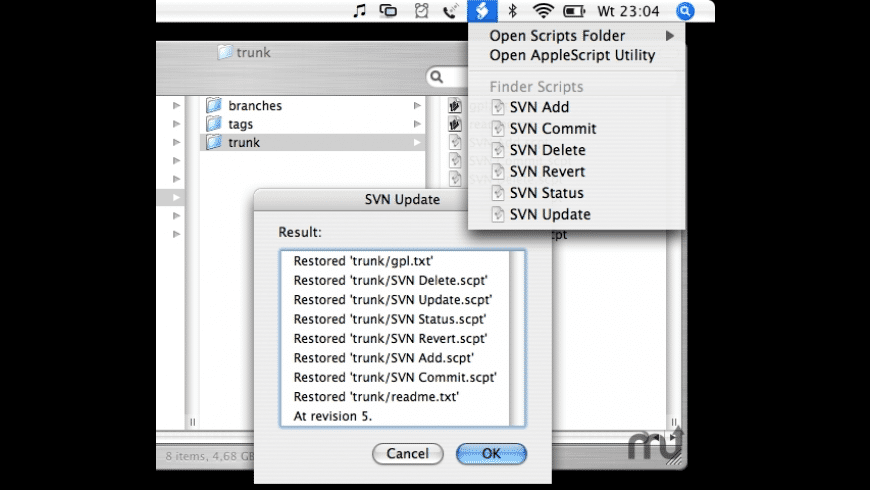 Subversion Scripts for Finder for Mac - review, screenshots