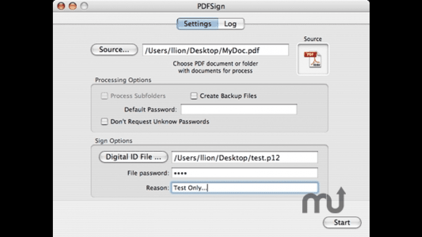 PDFSign for Mac - review, screenshots