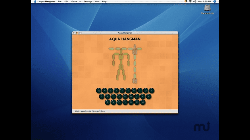 Aqua Hangman for Mac - review, screenshots