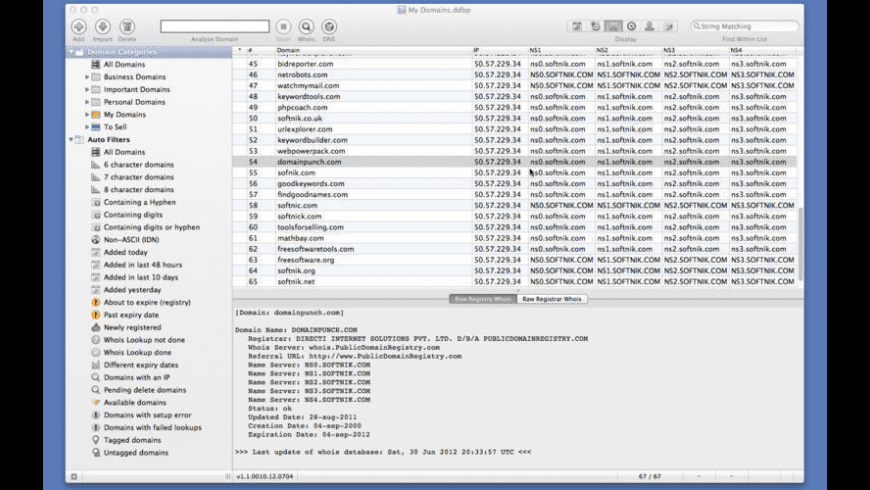 Watch My Domains for Mac - review, screenshots