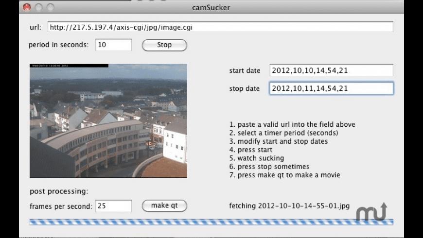 camSucker for Mac - review, screenshots