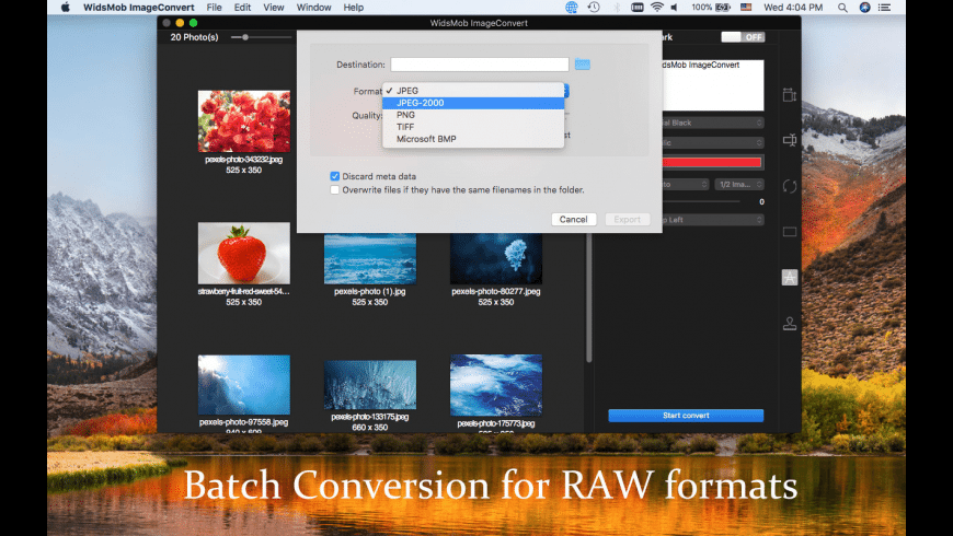 WidsMob ImageConvert for Mac - review, screenshots