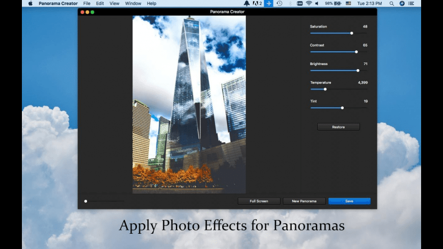 WidsMob Panorama for Mac - review, screenshots