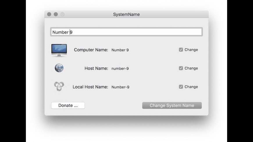 SystemName for Mac - review, screenshots