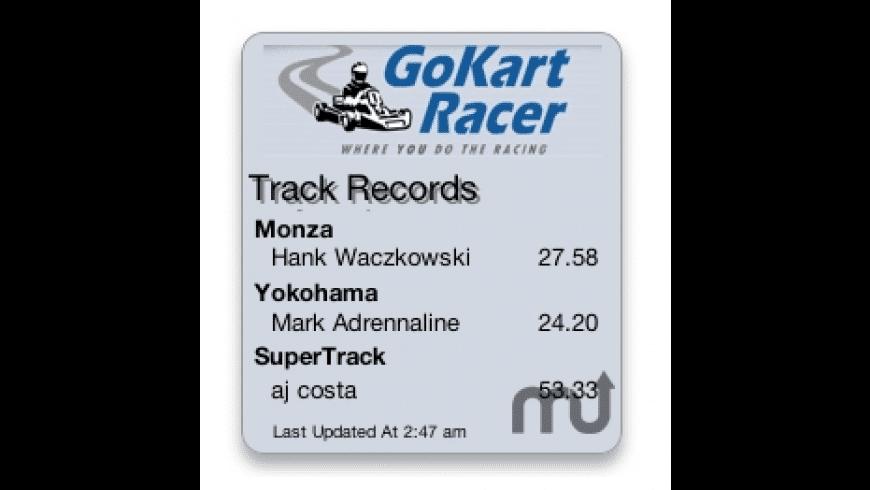 GoKart Racer Top Times Widget for Mac - review, screenshots