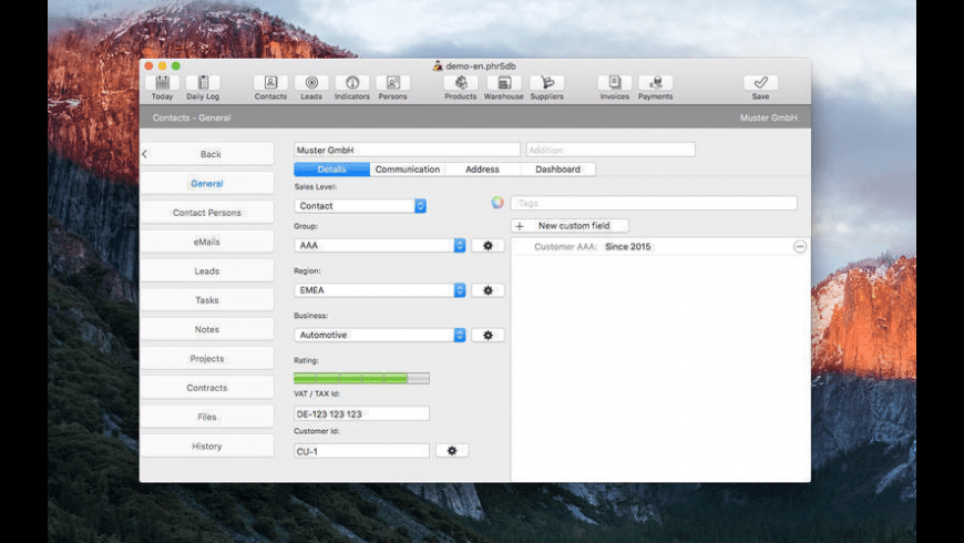 Philasmicos R5 CRM for Mac - review, screenshots