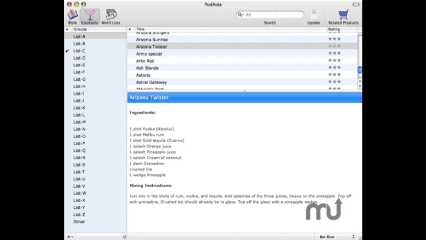 PodAide for Mac - review, screenshots