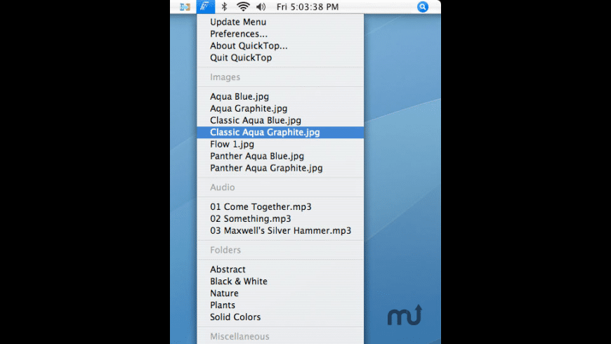 QuickTop for Mac - review, screenshots