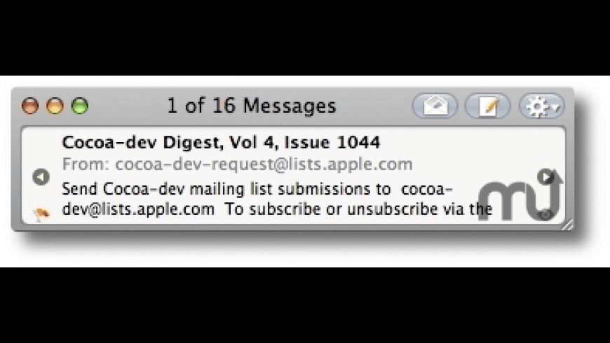 MiniMail for Mac - review, screenshots