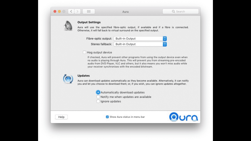 Aura for Mac - review, screenshots