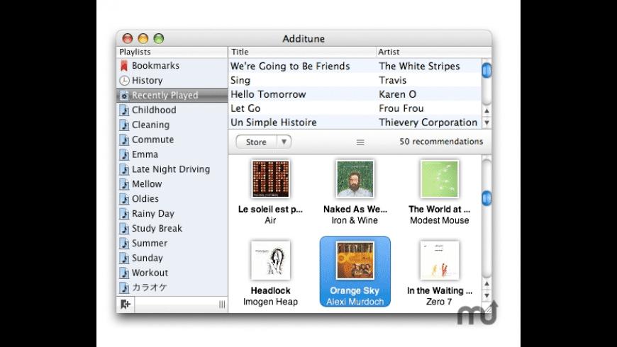 Additune for Mac - review, screenshots