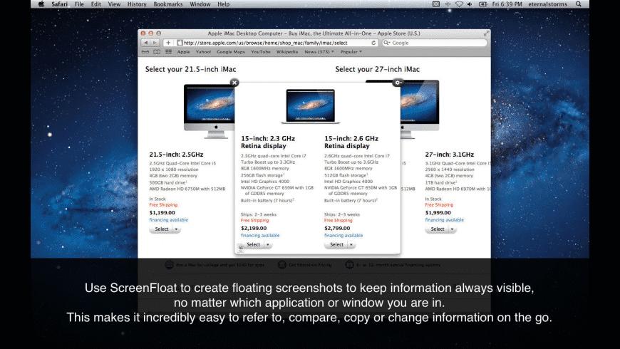 ScreenFloat for Mac - review, screenshots