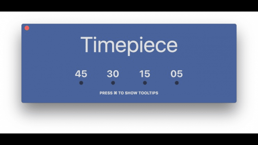 Timepiece for Mac - review, screenshots