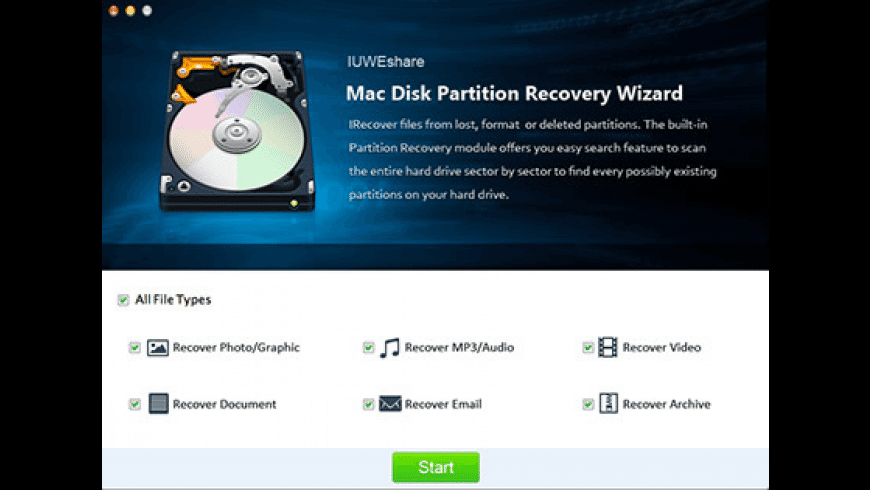 Disk Partition Recovery Wizard for Mac - review, screenshots