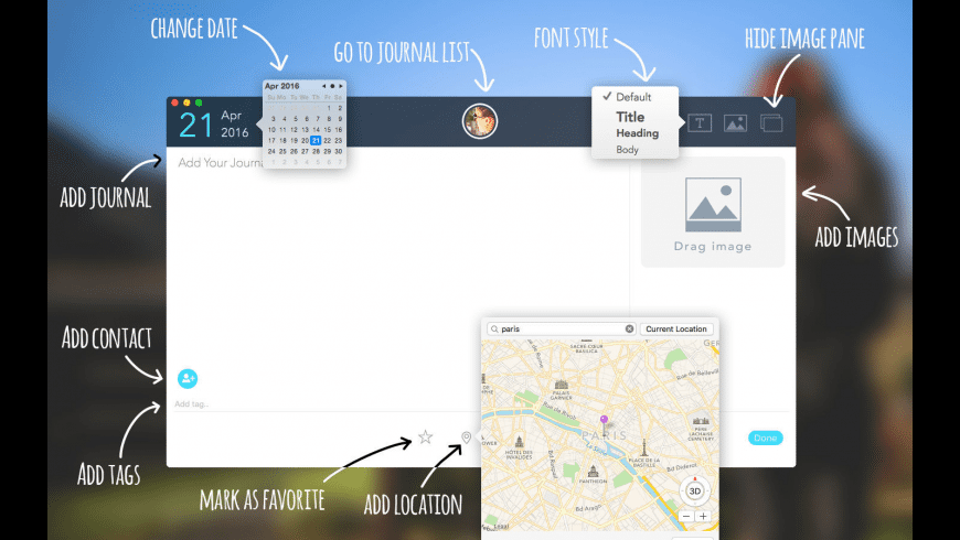 Travel Journal for Mac - review, screenshots
