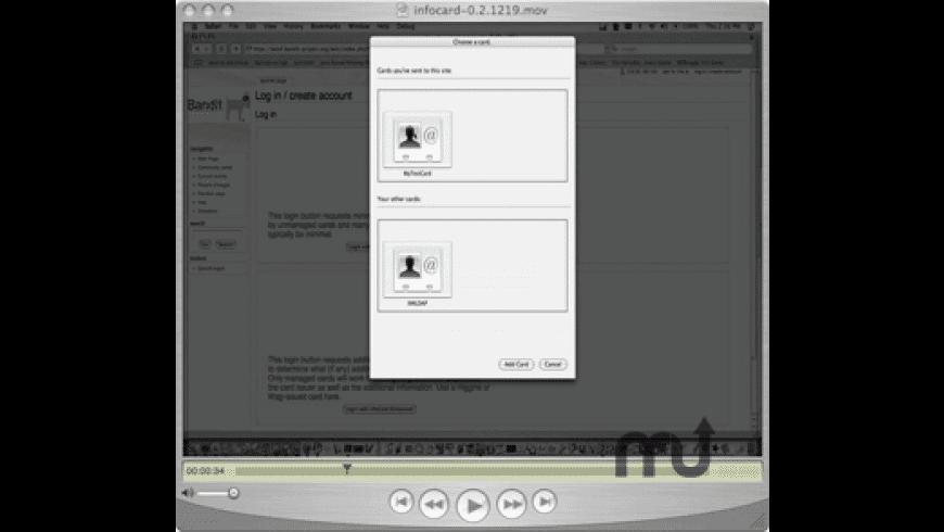 InfoCard Selector for Mac - review, screenshots