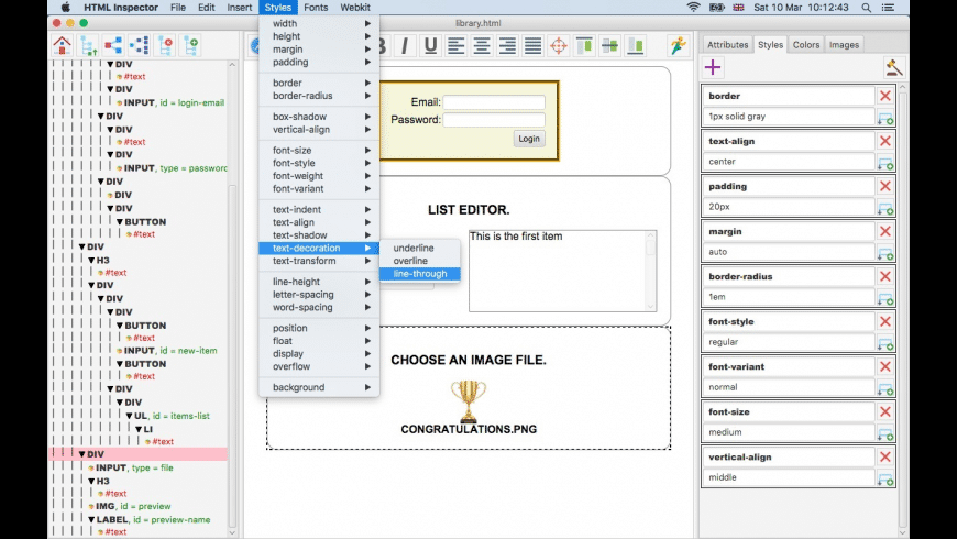 HTML Inspector for Mac - review, screenshots