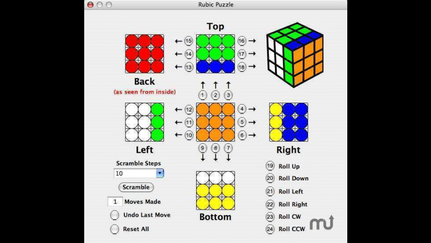 Rubik Puzzle for Mac - review, screenshots