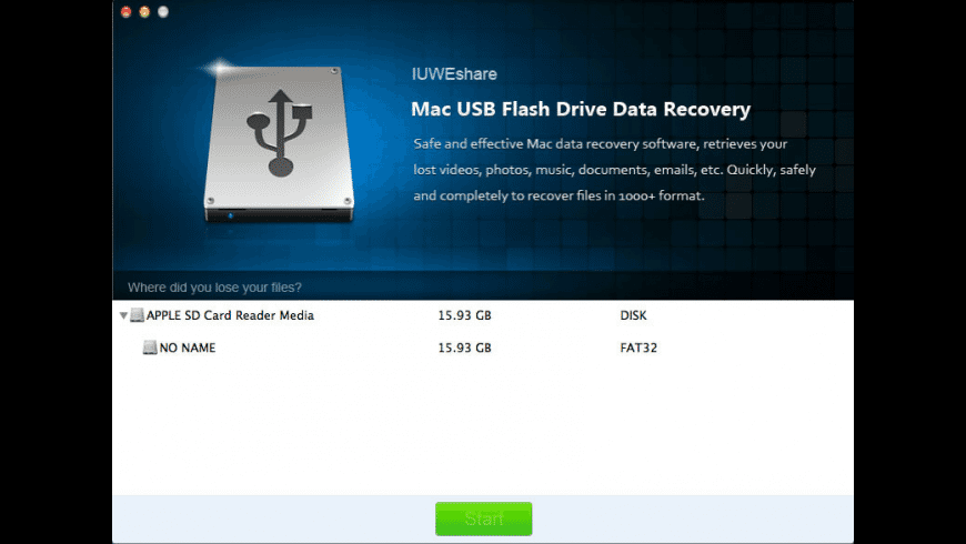 USB Flash Drive Data Recovery for Mac - review, screenshots