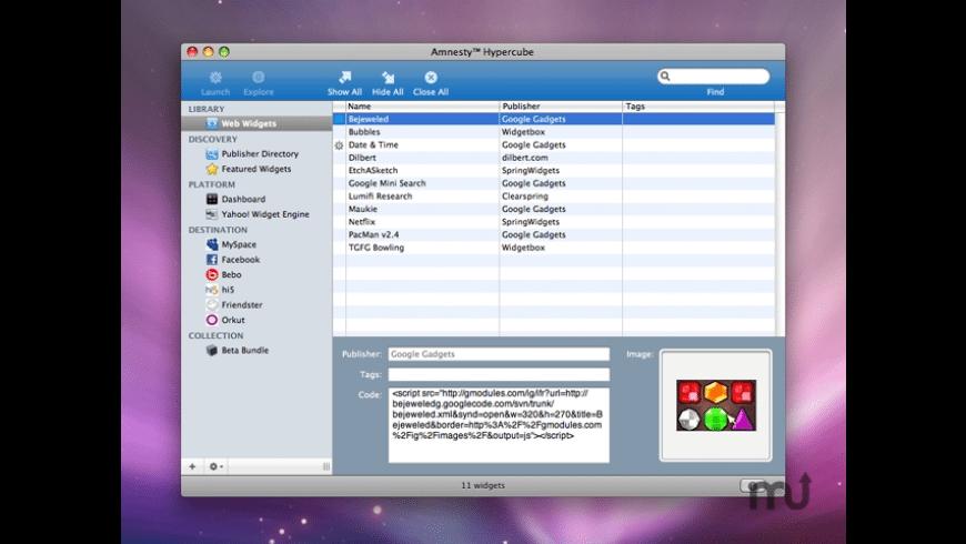 Amnesty Hypercube for Mac - review, screenshots