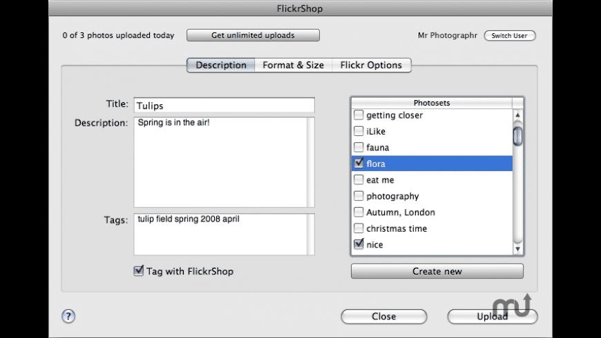 FlickrShop for Mac - review, screenshots