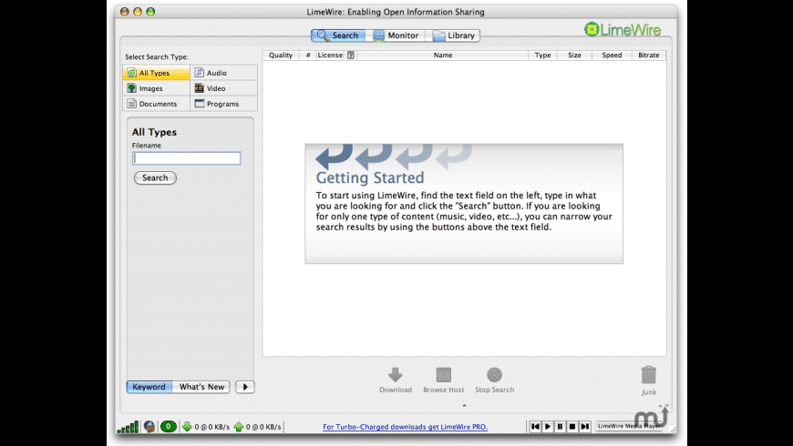 LimeWire for Mac - review, screenshots