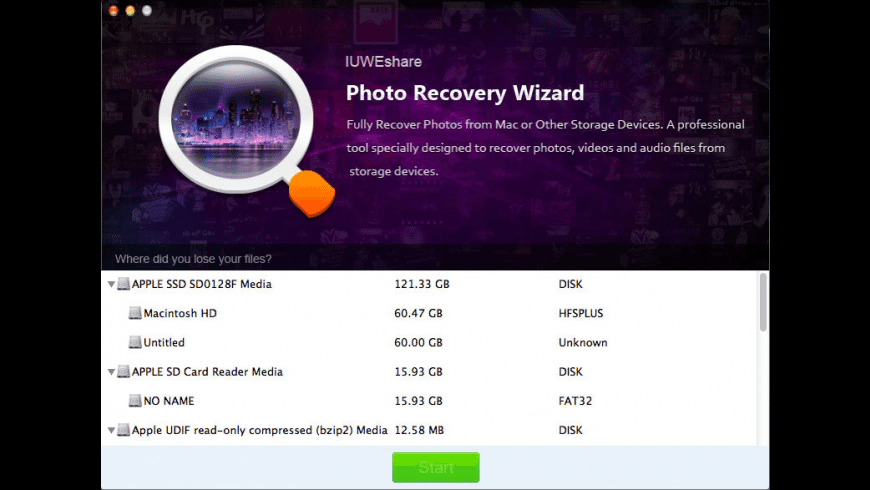 Photo Recovery Wizard for Mac - review, screenshots