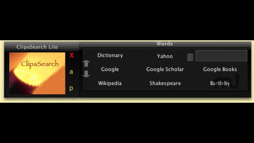 ClipaSearch Lite for Mac - review, screenshots