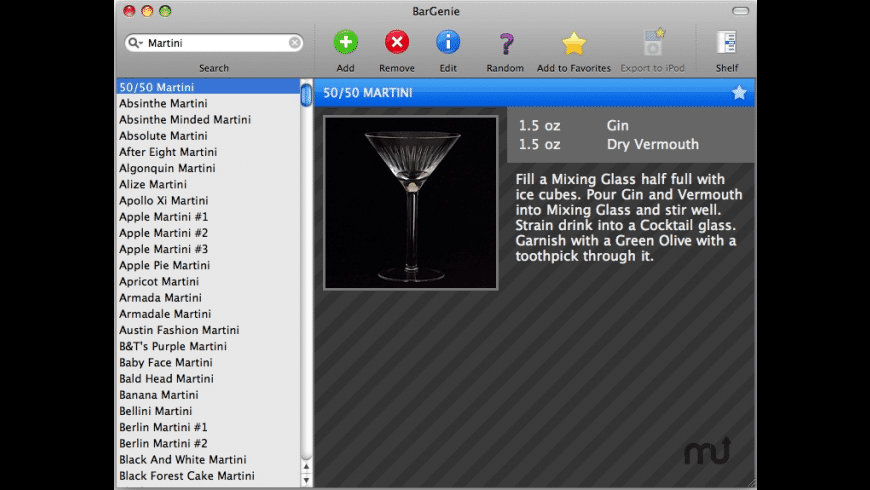 BarGenie for Mac - review, screenshots