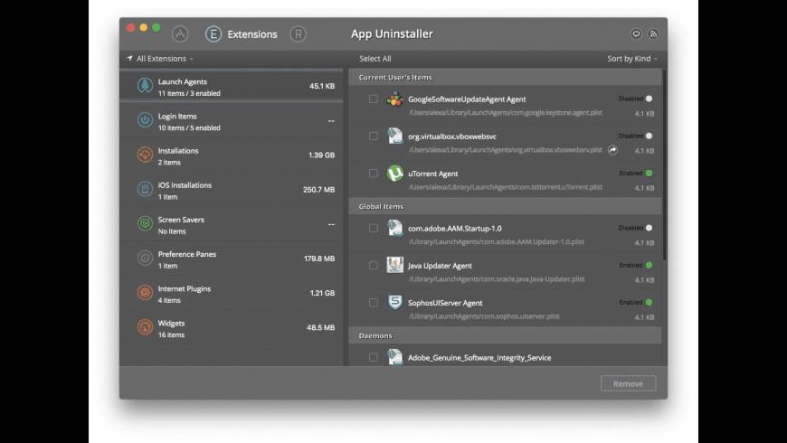 App Uninstaller for Mac - review, screenshots