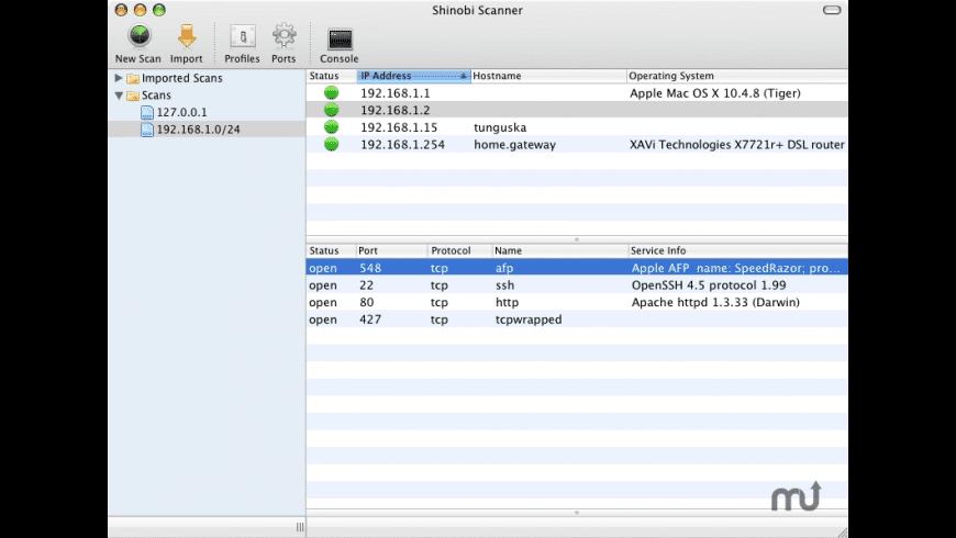 Shinobi Scanner for Mac - review, screenshots