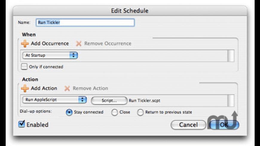 Entourage Mail Tickler for Mac - review, screenshots