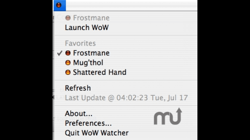 WoW Watcher for Mac - review, screenshots