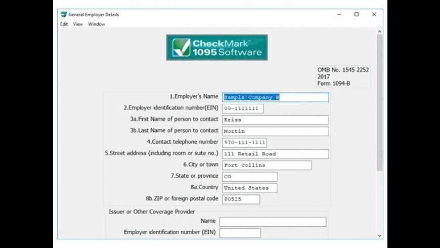CheckMark 1095 for Mac - review, screenshots