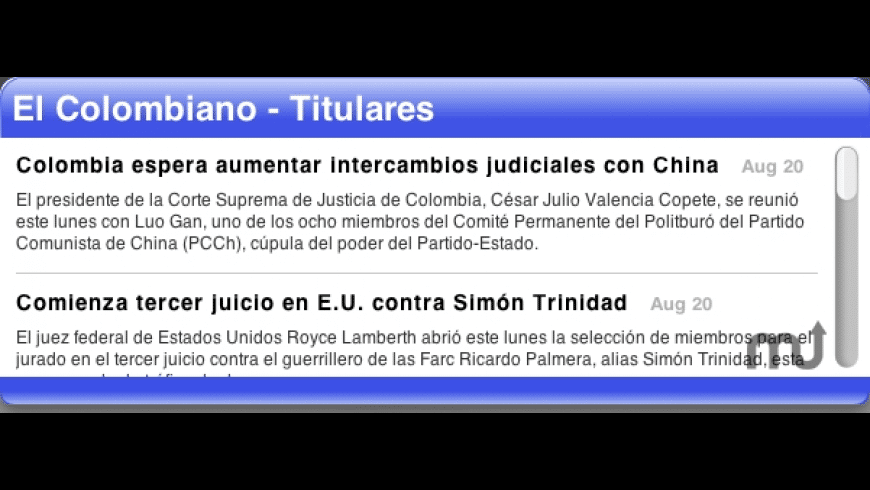 El Colombiano Headlines for Mac - review, screenshots