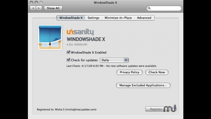 WindowShade X for Mac - review, screenshots