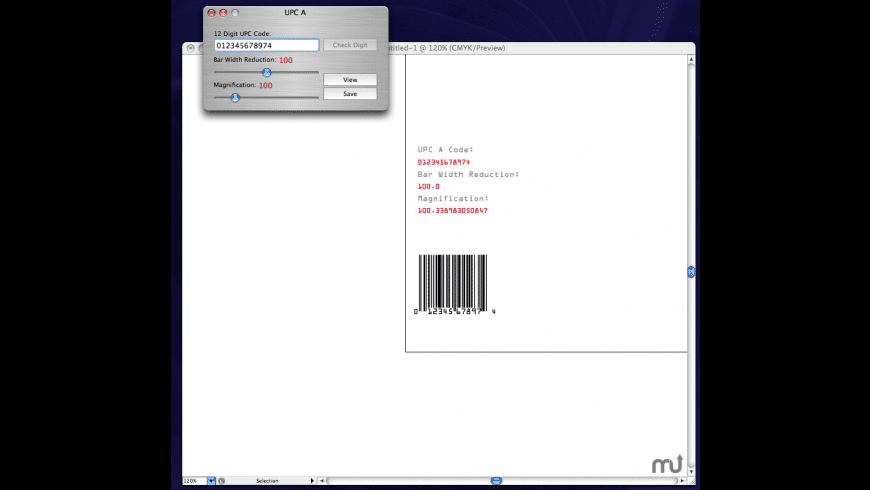 Ray's Bar Codes for Mac - review, screenshots
