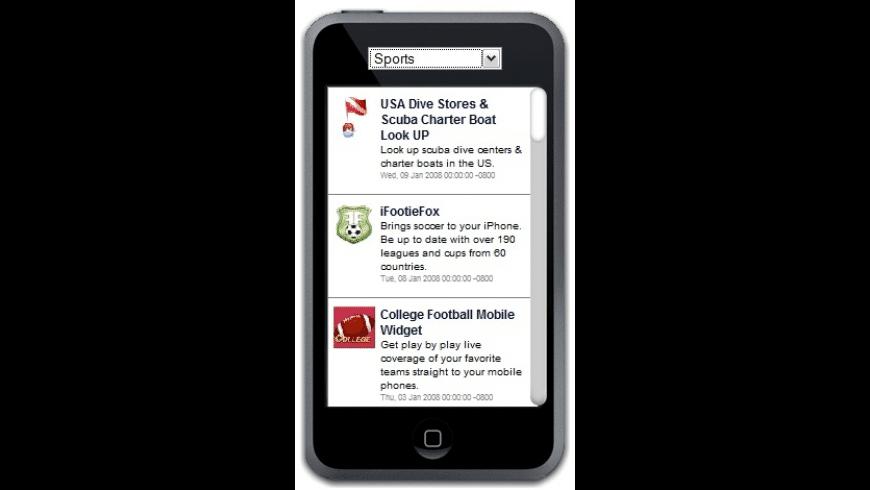 iPhoneAppz Widget for Mac - review, screenshots