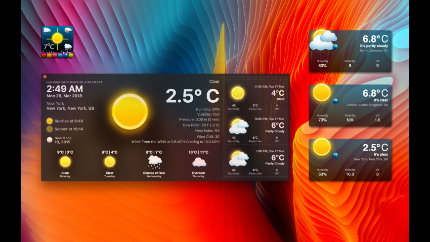 Live Dock Weather for Mac - review, screenshots