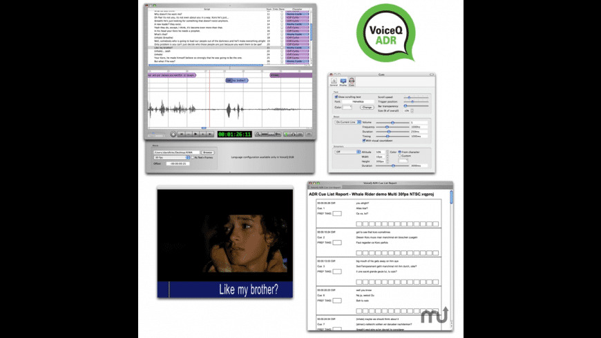 VoiceQ ADR for Mac - review, screenshots