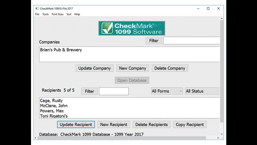 CheckMark 1099 for Mac - review, screenshots