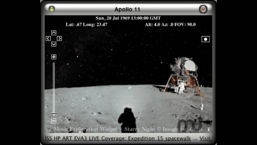 Moon Exploration Widget for Mac - review, screenshots