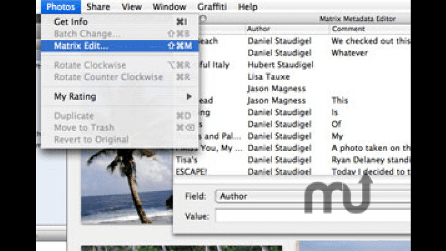 iPhoto Matrix Edit for Mac - review, screenshots
