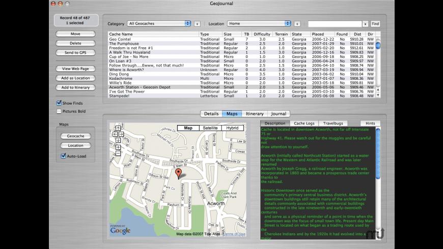 GeoJournal for Mac - review, screenshots