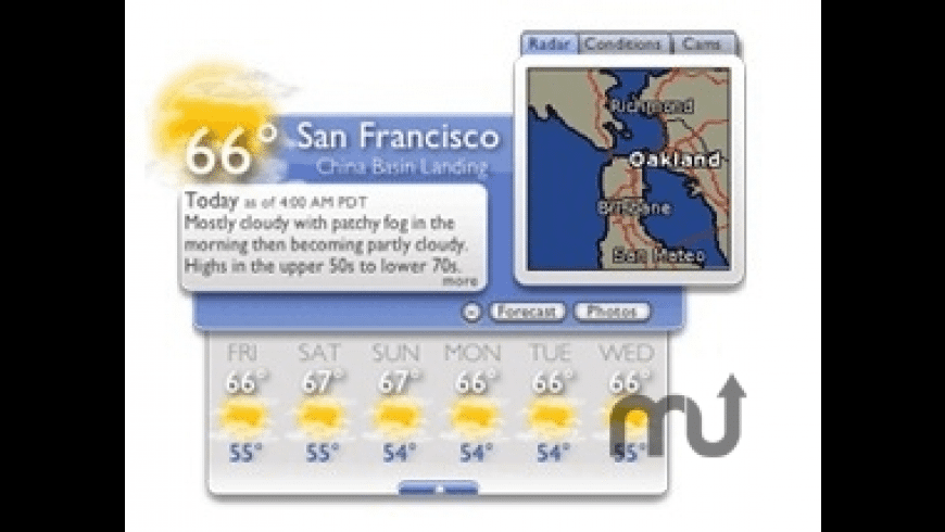 Weather Underground Widget for Mac - review, screenshots
