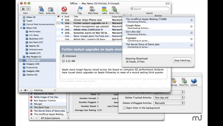 Cyndicate for Mac - review, screenshots