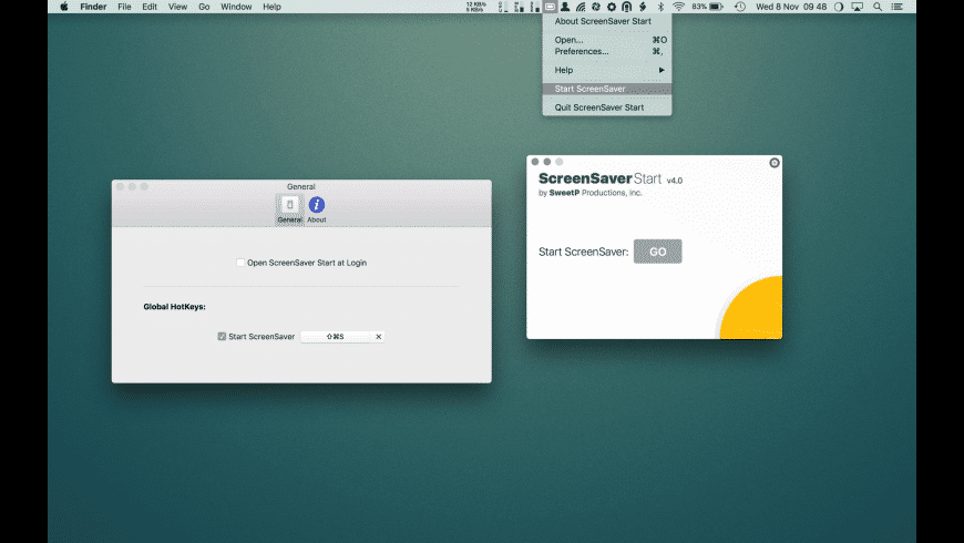 ScreenSaver Start for Mac - review, screenshots