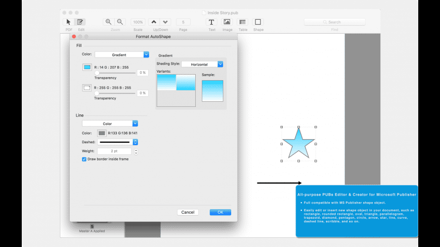 PUB Expert for Mac - review, screenshots